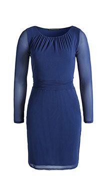 Esprit / Mesh-Kleid mit transparenten Ärmeln