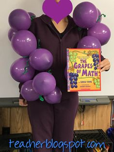 """In case you are needing a quick costume for book character day or for Halloween, you can try this. Now this is a bit of a stretch on the definition of """"character"""" but everyone was impr… Teacher Book Character Costumes, Book Characters Dress Up, Character Dress Up, Teacher Costumes, Easy Book Week Costumes, Book Costumes, Teacher Books, Math Books, Teacher Stuff"""