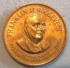 united states president coins | ... Roosevelt 32nd United States President Copper Coin Token PC2 | eBay
