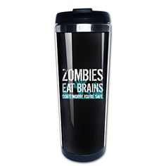 Zombies Eat Brains Stainless Travel Coffee Mug >>> Click image to review more details.Note:It is affiliate link to Amazon.