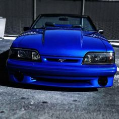 Fox Body Mustang GT Convertible Blue Mustang, 1993 Ford Mustang, Fox Body Mustang, Ford Mustang Convertible, Mustang Cars, Ford Mustang Gt, Ford Gt, Ford Fairlane, Unique Cars
