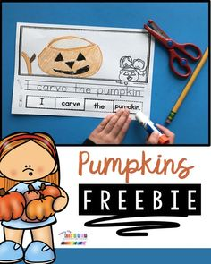 FREE Fall Sentence Writing - how to write a sentence - small reading groups for - easy no prep plans for small guided reading groups - Pumpkin Halloween and Fall Reading Activities for pre-k kindergarten and first grade Writing Center Kindergarten, Kindergarten Freebies, Kindergarten Reading, Kindergarten Activities, Teaching Writing, Kindergarten Classroom, Classroom Decor, Literacy, Writing Activities For Preschoolers