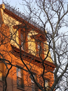 The evening sun  was setting gently  over this brownstone beauty  on Union Street  in Carroll Gardens.