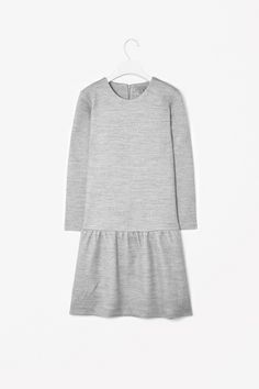 Wool cotton jersey dress - drop waist