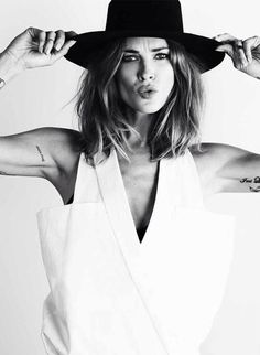 Erin Wasson | makes me think about getting a shorter haircut