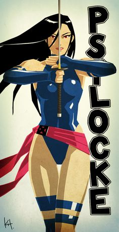 Psylocke from Marvel's X-Men Comic Book Characters, Marvel Characters, Comic Character, Comic Books Art, Comic Art, Disney Characters, Fictional Characters, Marvel Women, Marvel Girls