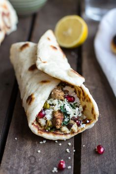Middle Eastern Chicken and Couscous Wraps with Goat Cheese   halfbakedharvest.com @Jenni @ Fitzala