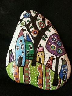 #stonepainting#houses