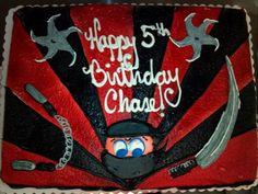 Creative Cake, Ninja Cake, Black and Red Cake, Alexis Snell Original