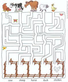 Werkblad: Zoek de weg van de dieren