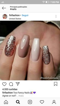 Guardar Square Acrylic Nails, Best Acrylic Nails, Acrylic Nail Designs, Coffin Nails Matte, Nude Nails, Glitter Nails, Polish Nails, Chic Nails, Finger
