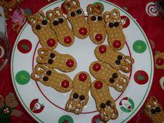 Rudolph nutter butter cookies