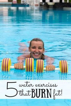 Calorie-Blasting Pool Workout – The Mom of the Year Blast calories and burn major fat with these super-effective water exercises. Aerobic exercise tips that work surprisingly well! Maximize your fitness routine! Water Aerobic Exercises, Swimming Pool Exercises, Pool Workout, Water Workouts, Swimming For Exercise, Kickboxing Workout, Weight Exercises, Dumbbell Workout, Fitness Exercises