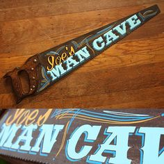 Man Cave hand painted saw
