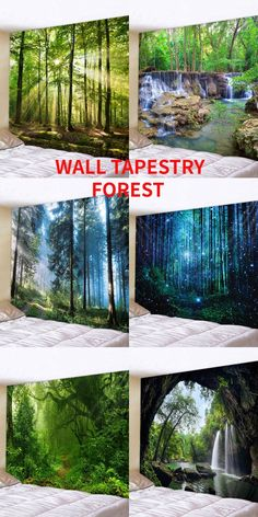 Cricut Projects Discover Best home decor wall tapestry forest printed wall tapestry DIY home craft ideas