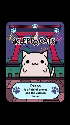"Here's my new friend ""Peeps"" #KleptoCats @HyperBeard #iOS www.kleptocats.com/share"