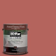 BEHR Premium Plus Ultra, 1-gal. #180D-6 Mineral Red Eggshell Enamel Interior Paint, 275301 at The Home Depot - Mobile