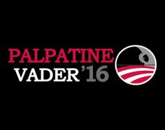 Palpatine / Vader 2016 election t-shirt