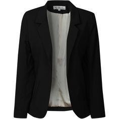 True Decadence Black Blazer with Cream Lining (220 BRL) ❤ liked on Polyvore featuring outerwear, jackets, blazers, veste, casacos, black jacket, black blazer and true decadence