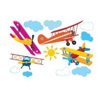 Decowall muursticker vliegtuigen