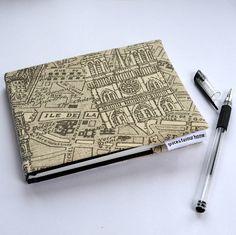 Paris Map Fabric Notebook/Sketchbook