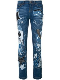 09d0c4af1d Dolce   Gabbana Girly-fit jeans with patch appliqués