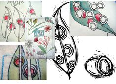 LaFazio_sketchbook designs from life_eucalyptus | Flickr - Photo Sharing!