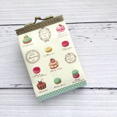 Macaron Business card Holder Credit Card by BlueRabbitHandmade