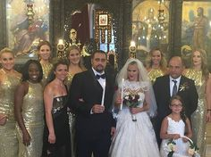On Friday, September 2, 2016, Miroslav Barnyashev (WWE Superstar Alexander Rusev) and CJ Perry (WWE Diva Lana) held a second wedding in Plovdiv, Bulgaria, which is his native country. The bride and bridesmaids wore a custom gowns by designer Olia Zavozina for the traditional Bulgarian wedding. The bridal party included fellow WWE Divas Trinity Fatu (Naomi) and Natalie Neidhart Wilson (Natalya). The wedding will be featured on the sixth season of the reality show Total Divas. #WWE #Weddings