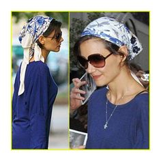 Several Great Ways to Tie Head Scarves found on Polyvore