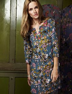 Can I just skip the Boden phase and go straight to. whatever I should wear when I'm Please? Boden Clothing, Kaftan, Frocks, Warm Weather, Floral Tops, What To Wear, Tunic, Silk, My Style
