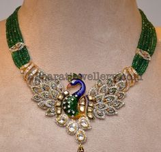 Peacock Diamond Pendant - Jewellery Designs