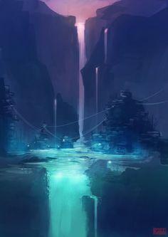 Spirit Falls by kovah on deviantART