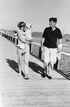 1959. Jackie, Caroline and Jack. Hyannis Port