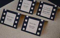 Film strip seating / escort cards.