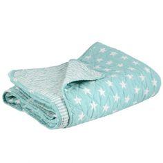 IB Laursen Quilt *New England* Mint: Schöner mintfarbener Quilt im trendigen Hampton-Style von der Firma IB Laursen. Die Decke ist beidseitig verwendbar, eine Seite ...