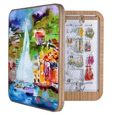 Ginette Fine Art Sailing Past Vernazza Italy BlingBox | DENY Designs Home Accessories