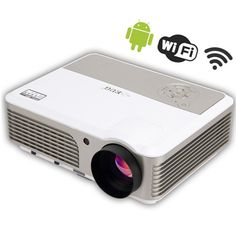 EUG Bulit-in Wireless WiFi New Full HD LED LCD Suport 1080P Projector 2600 Lumens Input USB ,HDMI,VGA-In, AV, S-Video Projector Home Cinema Theater Office Business School. EUG Projector Make The High Quality For You. The EUG(X760+)Built-in Android4.2.you can suffer on the internet ant at any time by the wifi connectivity. Built-in Wifi Android4.2 System Brightness: 2600Lumens. Resolution: 1024*600support1080P Contrast: 2500:1 (Full On/Off). Lamp Life: More than 30000Hours 160W LED Lcd…