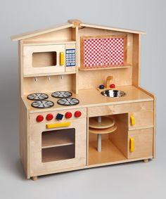 Wood Play Kitchen Set applewood kitchen | le toy van honeybake | buy online directtoys