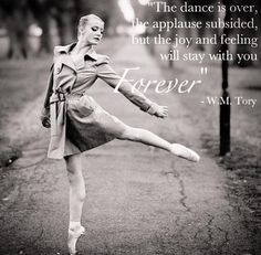 Dance quote (I also love the idea of trench coats as a costume)