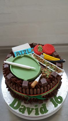 Fantastic Weed Cake Funny Birthday Cards Online Overcheapnameinfo
