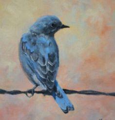 Mountain Bluebird Fine Art Print by ArtFanFair (Artwork by Debra Mickelson) Blue Bird Art, Tile Art, Custom Posters, Graphic Art, Fine Art Prints, Canvas Prints, Mountain, Bluebirds, Shop