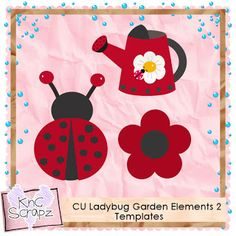 KnC Scrapz: CU Ladybug Garden Elements 2 PS Templates