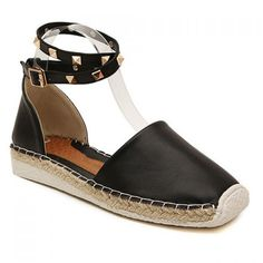 Sweet Knitting and Rivets Design Square Toe Women's Sandals