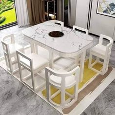 Space Saving Dining Table, Dinning Table Design, Unique Dining Tables, Dining Room Table Decor, Wooden Dining Tables, Kitchen Room Design, Home Room Design, Home Decor Kitchen, House Furniture Design
