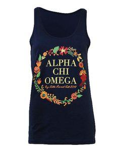 Alpha Chi Omega Big Little Tank by Adam Block Design   Custom Greek Apparel & Sorority Clothes   www.adamblockdesign.com