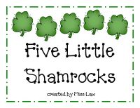 Five Little Shamrocks This is my newest book that I created out of a poem. - Pinned by @PediaStaff – Please Visit http://ht.ly/63sNt for all our pediatric therapy pins