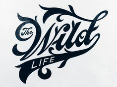 The Wild Life typography by Christopher Craig