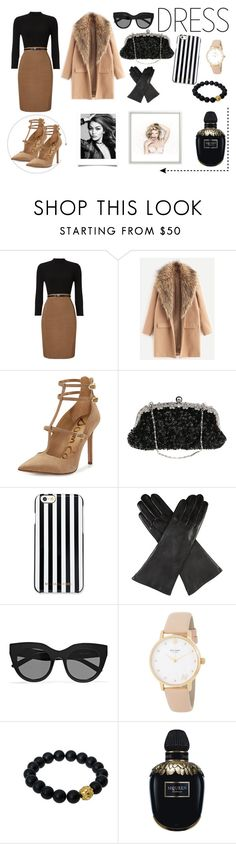 """winter outfit of 2017"" by omaduviemaya ❤ liked on Polyvore featuring Phase Eight, Sam Edelman, MICHAEL Michael Kors, Dents, Le Specs, Kate Spade, Berluti and Alexander McQueen"
