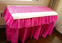 DIY ruffled table cloth